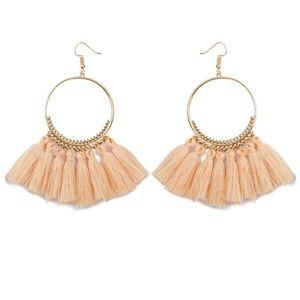 Jewelry - NEW COLOR! Long Tassel Fringe Boho Earrings BLUSH